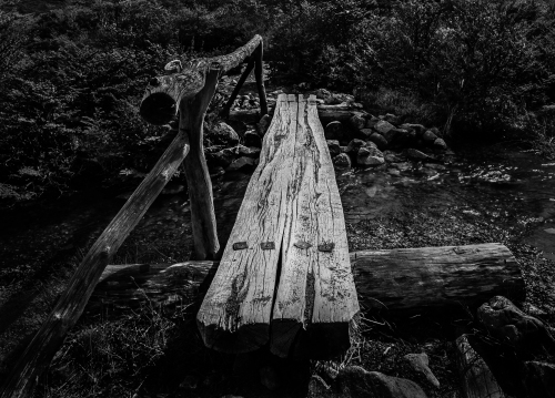 a-little wooden bridge